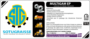 Graisse MULTIGAM EP